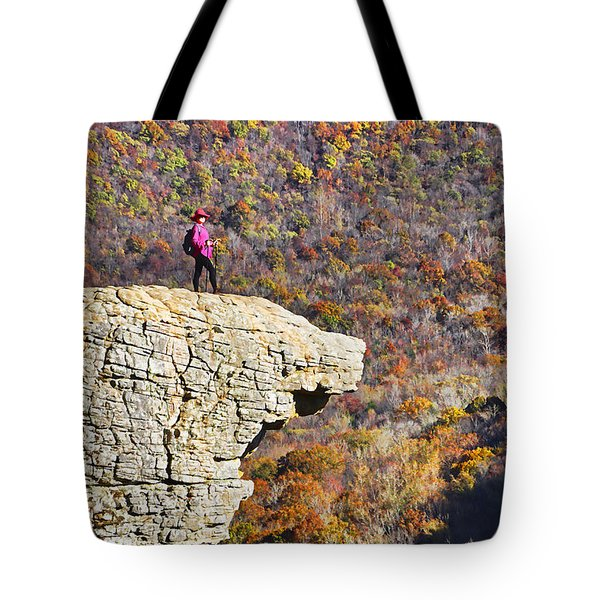 Hawksbill Crag In Autumn Tote Bag by Dennis Cox WorldViews