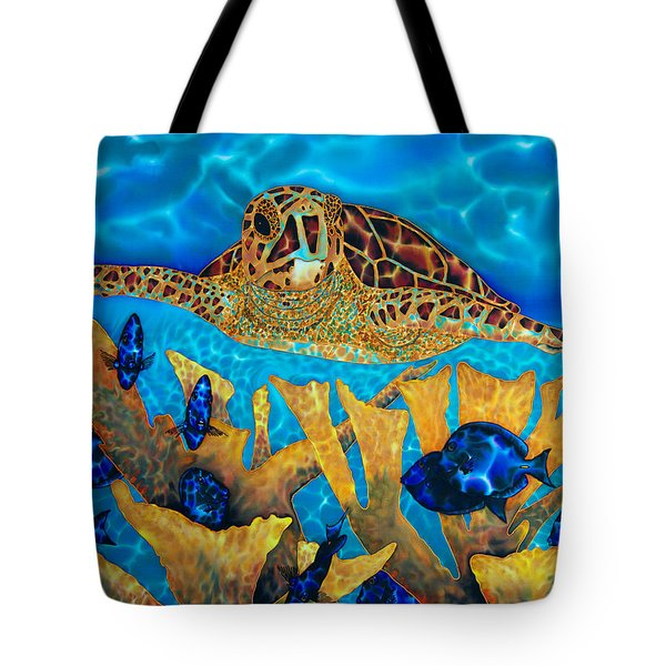 Hawksbill Sea  Turtle Tote Bag