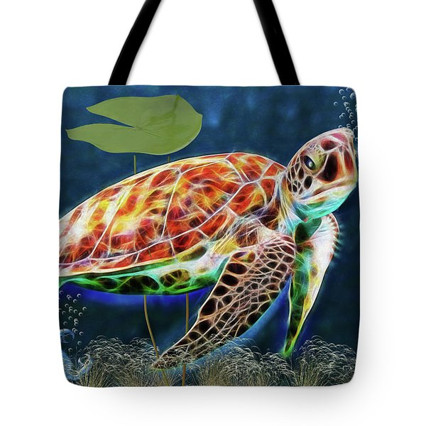 Hawksbill Sea Turtle Tote Bag