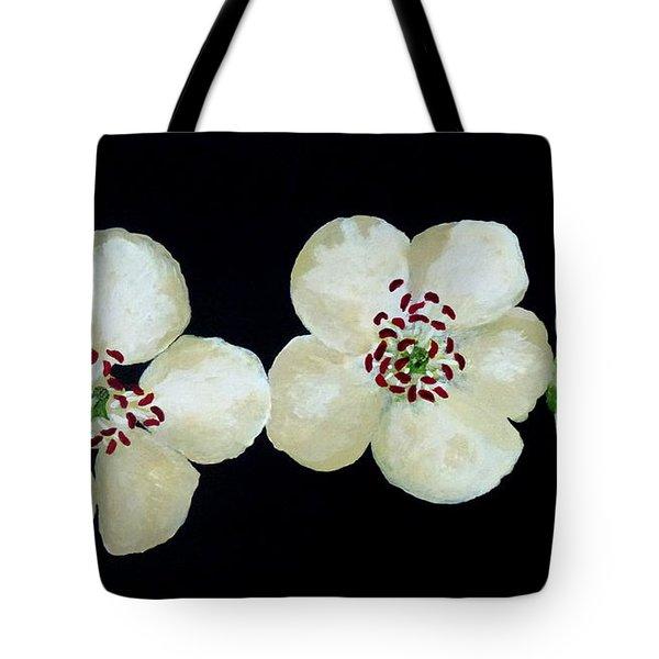 Hawthorn Flowers Tote Bag