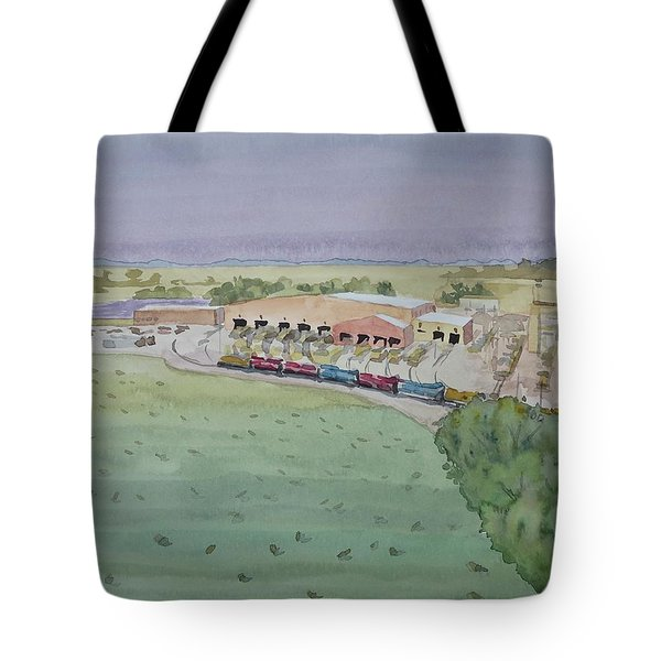Hay And Trains Field Tote Bag by Bethany Lee