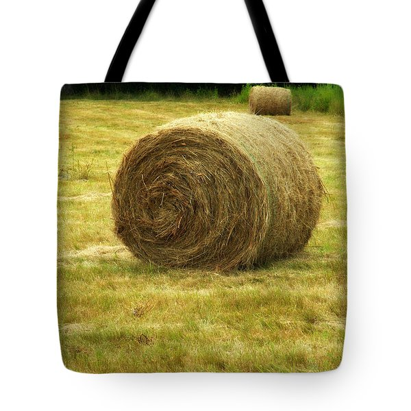 Hay Bale  Tote Bag by Bruce Carpenter