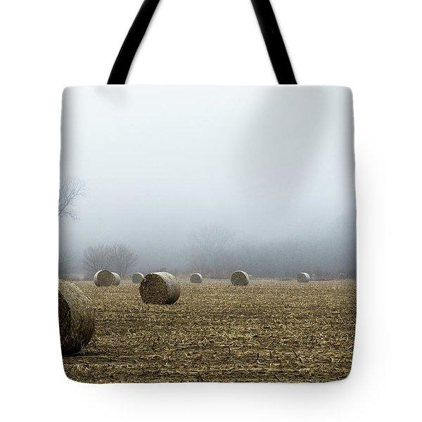 Hay Bales In A Field Tote Bag