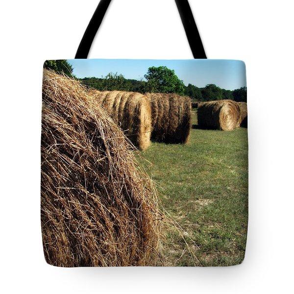 Hay Bales Tote Bag