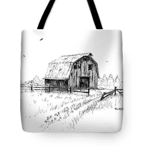 Hay Barn With Broken Gate Tote Bag