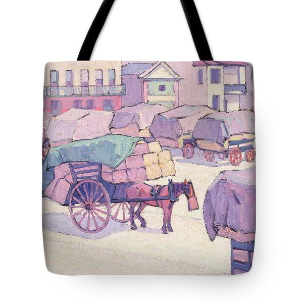 Hay Carts - Cumberland Market Tote Bag by Robert Polhill Bevan
