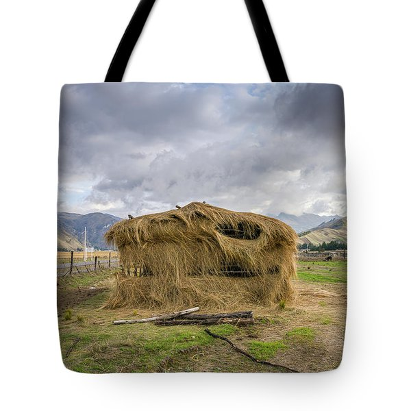 Hay Hut In Andes Tote Bag