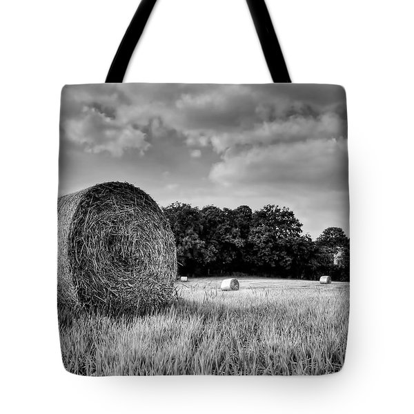 Hay Race Track Tote Bag by Jeremy Lavender Photography