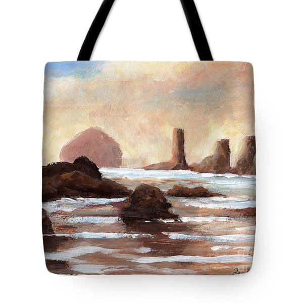 Hay Stack Reef Tote Bag by Randy Sprout