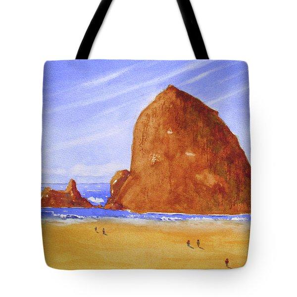 Hay Stack Rock Tote Bag