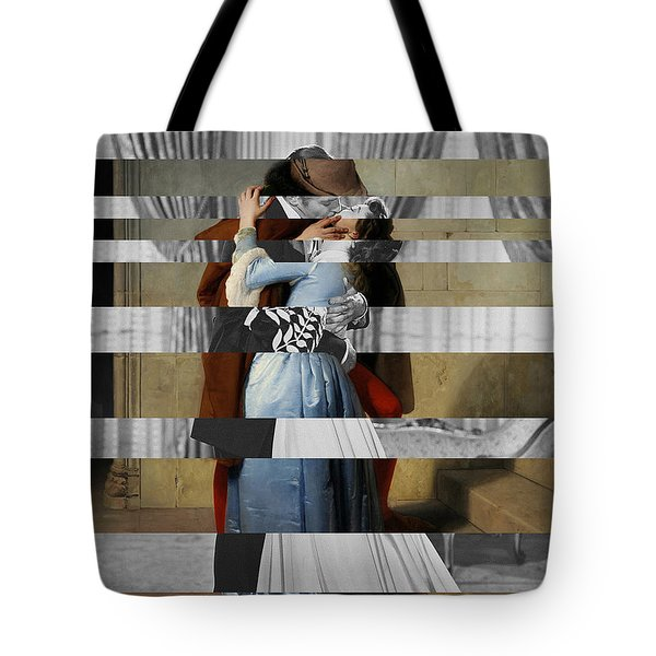 Hayes's The Kiss And Vivien Leigh With Clark Gable Tote Bag by Luigi Tarini