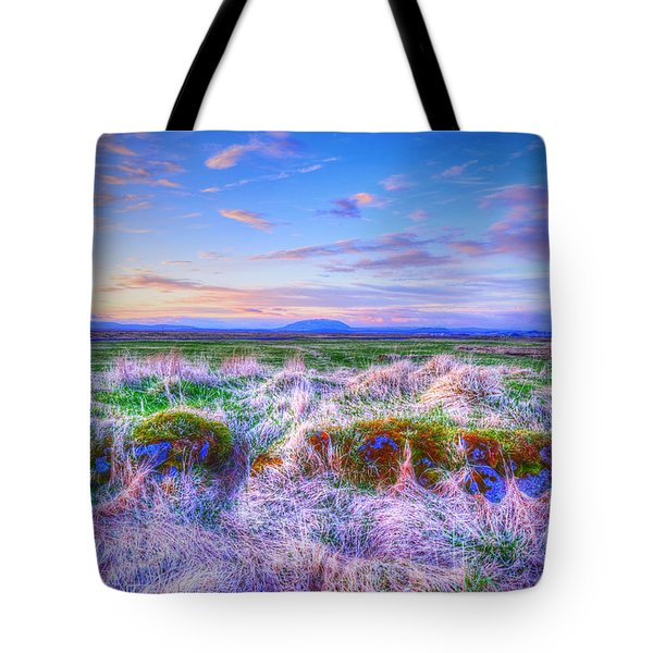 Hayfield Near Selfoss Iceland Tote Bag