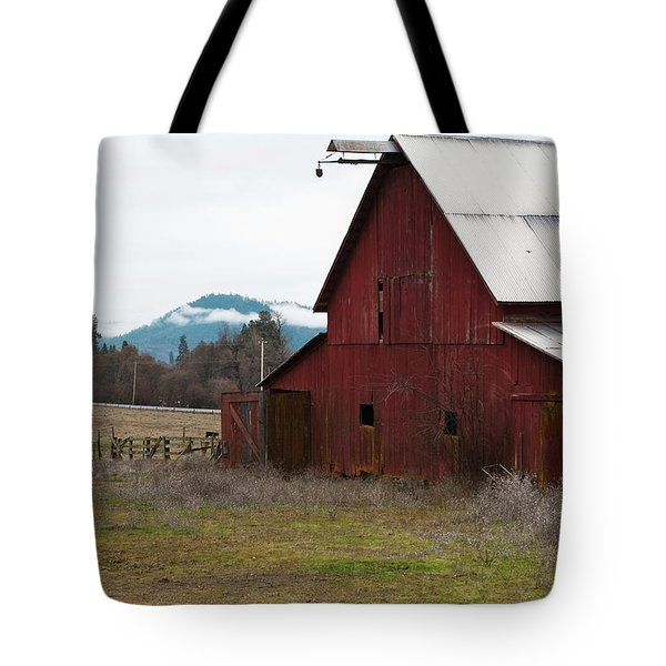 Hayfork Red Barn Tote Bag