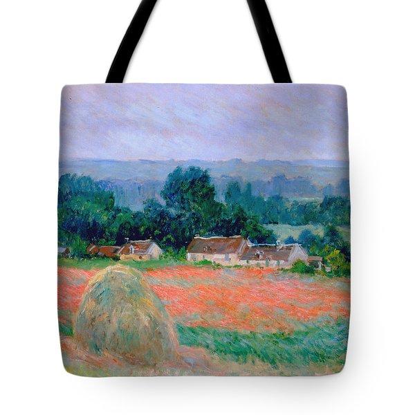 Haystack At Giverny 1886 Tote Bag