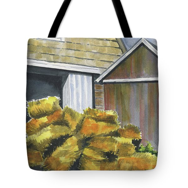 Haystack Tote Bag by Marsha Elliott