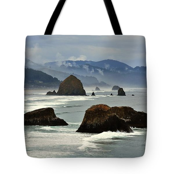 Haystack Rock-cannon Beach Tote Bag