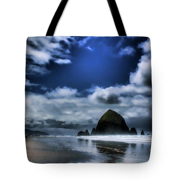 Haystack Rock Tote Bag by David Patterson