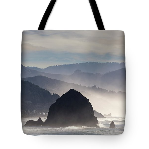 Haystack Rock On The Oregon Coast In Cannon Beach Tote Bag