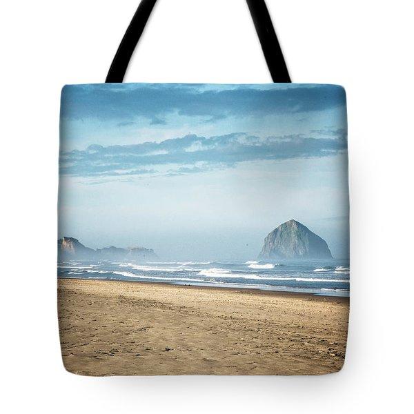 Haystack Rock Pacific City Tote Bag