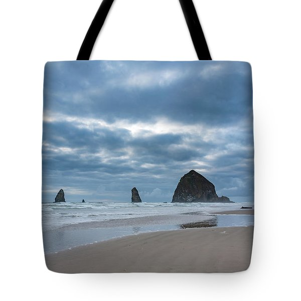 Haystack Rock, The Needles, And Cannon Beach Tote Bag