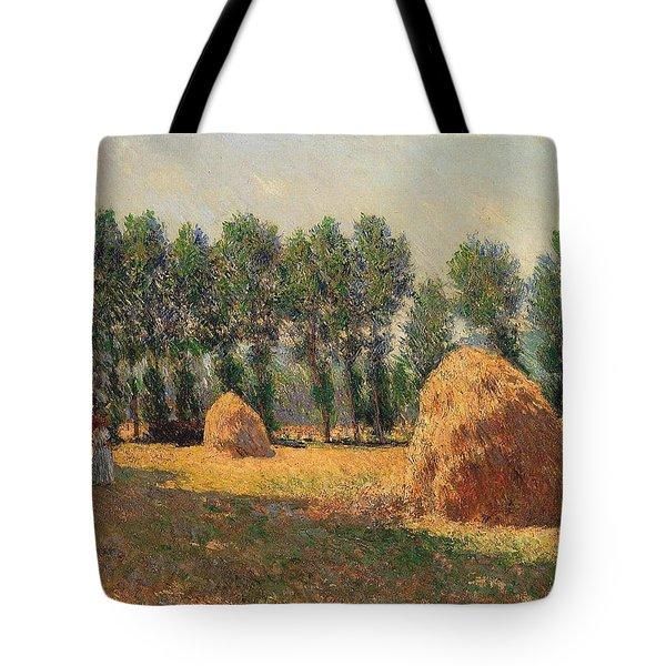 Haystacks At Giverny 1 Tote Bag