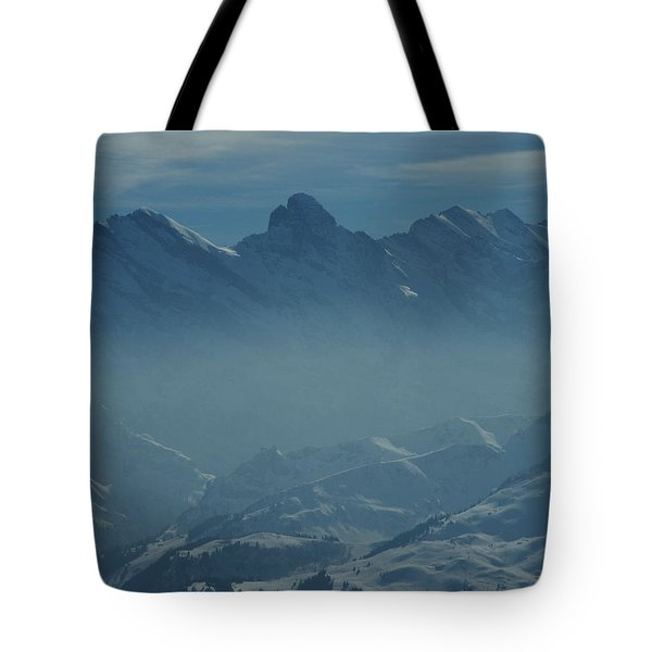 Haze In The Valley Tote Bag