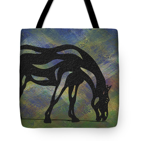 Hazel - Abstract Horse Tote Bag by Manuel Sueess