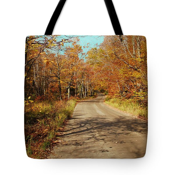 Tote Bag featuring the digital art Hazen Notch Summit Road by John Selmer Sr