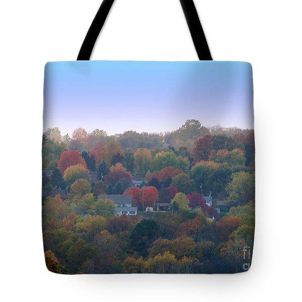 Hazy Autumn Tote Bag