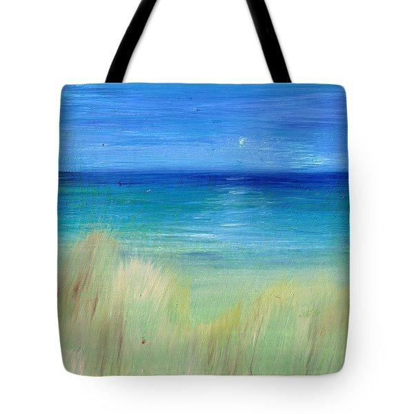 Hazy Beach Mini Oil On Masonite Tote Bag by Regina Valluzzi