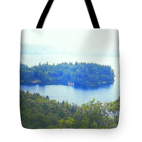 Tote Bag featuring the photograph Hazy Day At Lake George Ny by Merton Allen