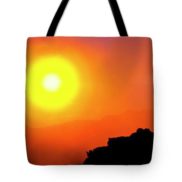 Hazy Haleakala Sunrise Tote Bag