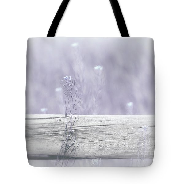 Tote Bag featuring the photograph Hazy Lavender Wildflowers by Jennie Marie Schell