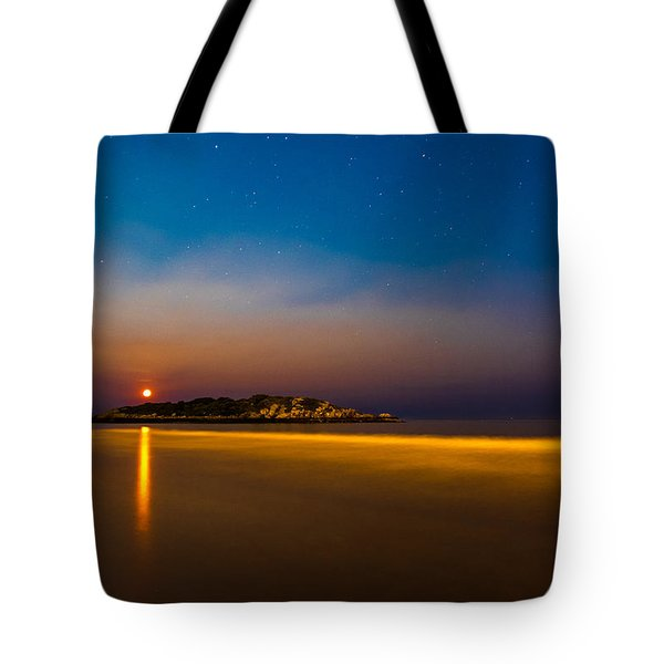 Hazy Moonrise Tote Bag