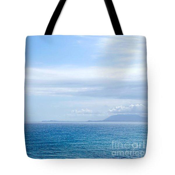 Hazy Ocean View Tote Bag by Kaye Menner