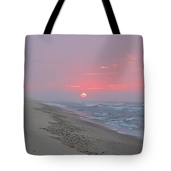 Tote Bag featuring the photograph Hazy Sunrise by  Newwwman