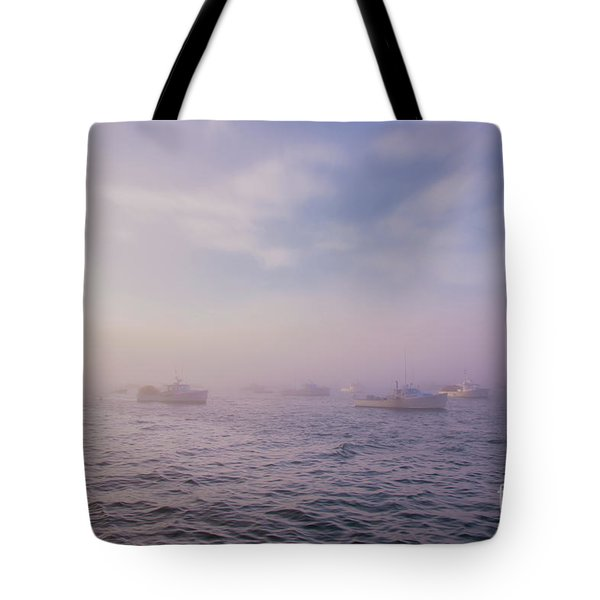Hazy Sunset In Bar Harbor Maine Tote Bag