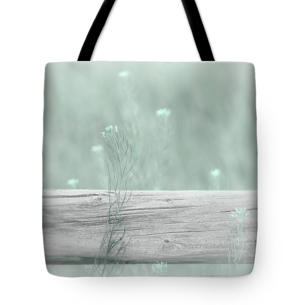 Tote Bag featuring the photograph Hazy Teal Wildflowers by Jennie Marie Schell