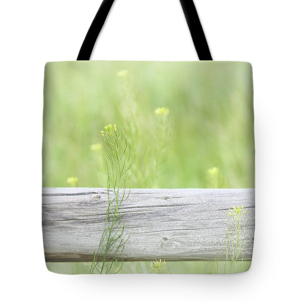 Tote Bag featuring the photograph Hazy Yellow Wildflowers by Jennie Marie Schell