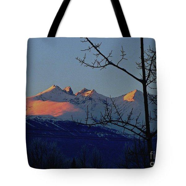 Hbm Winter Sunset Tote Bag