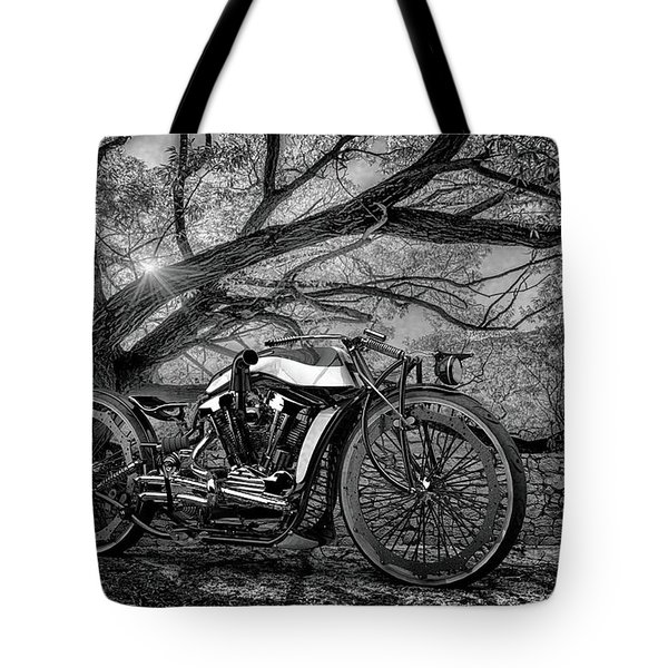 Tote Bag featuring the photograph Hd Cafe Racer  by Louis Ferreira