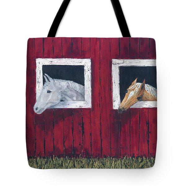 He And She Tote Bag