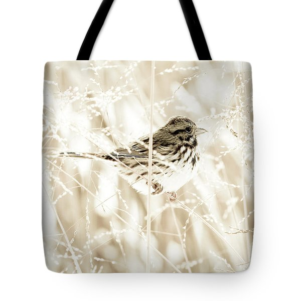 He Feeds The Sparrows Tote Bag