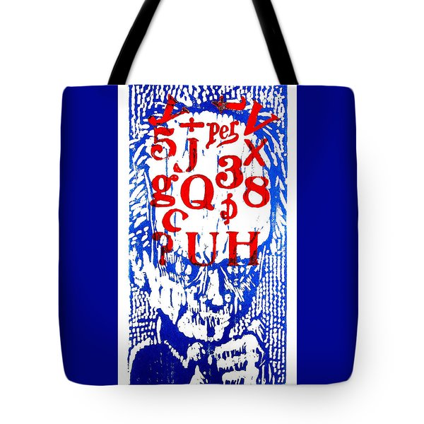 He Has A Lot On His Mind Tote Bag