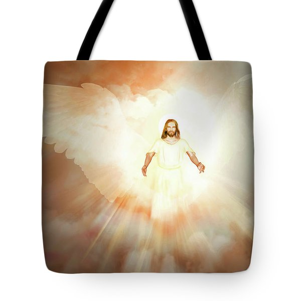 Tote Bag featuring the painting  He Is Risen by Valerie Anne Kelly