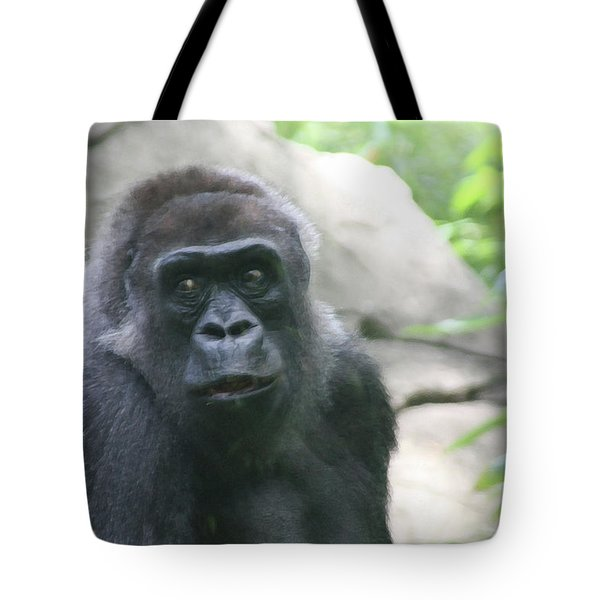 He Is Watching Tote Bag by Karol Livote