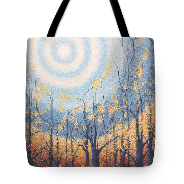 He Lights The Way In The Darkness Tote Bag by Holly Carmichael