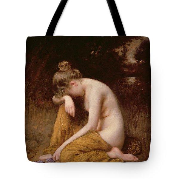 He Loves Me He Loves Me Not  Tote Bag by Robert Fowler