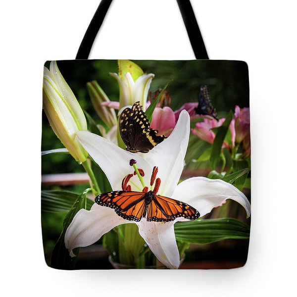 Tote Bag featuring the photograph He Still Gives Me Butterflies by Karen Wiles