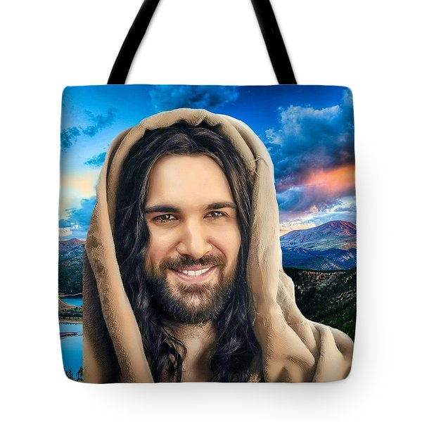 Tote Bag featuring the digital art He Watches Over Me 2 by Karen Showell